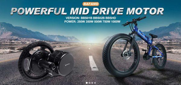 Bafang powerful mid drive motor